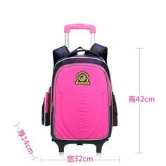 a9b0c263834c Kids Trolley School bags for Boys Children Backpack 2 Wheels Rolling  Backpacks Removable Book Bag Girls Schoolbag mochila