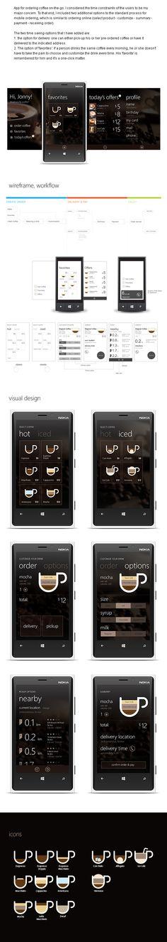 Coffee App by Michael Novoselov, via Behance