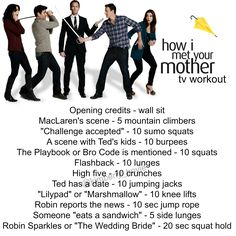 How I Met Your Mother Workout - TV workout HIMYM