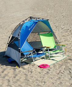 Blue & Silver Quick Draw Tent