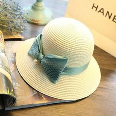 Womens-Floppy-Wide-Brim-Outdoor-Summer-Beach-UV-Cap-Mesh-Bowknot-Straw-Sun-Hat