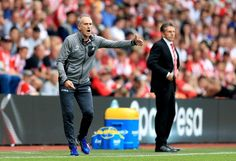 Swansea City manager Francesco Guidolin gestures on the touchline during the…
