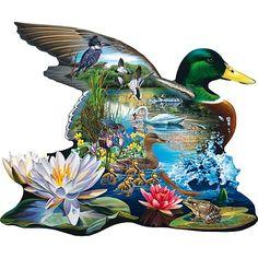 Mallard Pond 300 Large Piece Shaped Jigsaw Puzzle