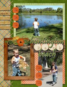 Destination scrapbook page layout