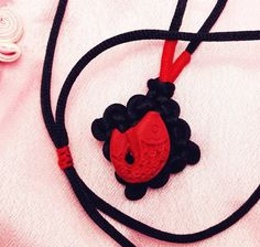 Red Fish/Star Green/Black Diamond Pendant by TrendyOriental