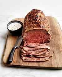 Kosher Recipe: Super Easy Roast Beef with Horseradish Cream Sauce | Gourmet Kosher Cooking