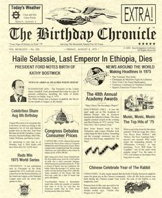 Image detail for -... from the then president of the united states plus newspaper headlines