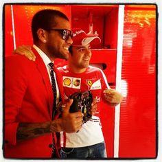 Daniel Alves rouba a cena em visita a Ferrari   Globos Daniel Alves, Ferrari, Hs Sports, Dinners, Globes