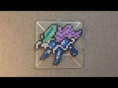 Legendary Pokemon: Perler Bead Suicune - YouTube