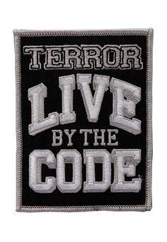 Terror - Live By The Code - Patch - Official Merch Store - Impericon.com UK
