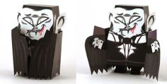 Halloween Special - Dracula Paper Toy - by Tougui - via Paper Toy France  ==          A very coll paper toy made by designer Tougui exclusively for Paper Toys France website.