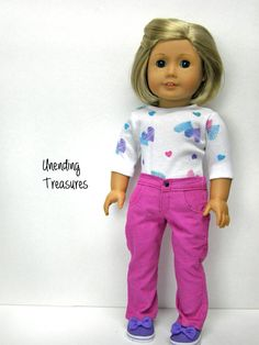 American Girl doll clothes 18 inch doll by Unendingtreasures  $14.00 for jeans