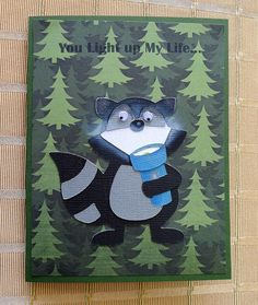 "Cricut Campin Critters Cartridge. ""You Light up My Life"" Card."