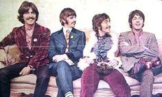 George Harrison, Richard Starkey, John Lennon, and Paul McCartney (Sgt Pepper release media party)