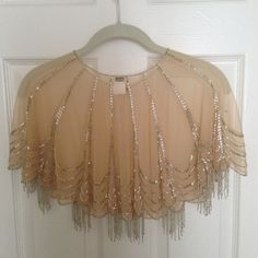Moyna Trickling Beaded Capelet New Unworn | Tradesy Weddings