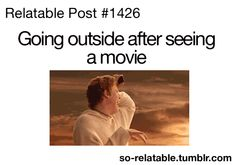 Even just going outside period can be traumatizing haha
