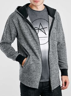 For mens fashion check out the latest ranges at Topman online and buy today. Topman - The only destination for the best in mens fashion Grey Zip Hoodie, Hoodies, Sweatshirts, Blazer, Mens Fashion, Sweaters, Jackets, Stuff To Buy, Moda Masculina