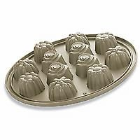 #1613 Silicone Floral Cupcake Pan - $39.00    Bake 12 beautifully detailed rose, daisy and sunflower cupcakes! Versatile silicone provides even baking and browning. The pan includes a steel rim for stability, so you can confidently place it right on the oven rack — no cookie sheet needed! A flexible surface helps cakes pop right out and makes storage easy. Great for ice cream, too. Temperature-safe from -4°F to 450°F. Dishwasher-, freezer- and oven-safe.