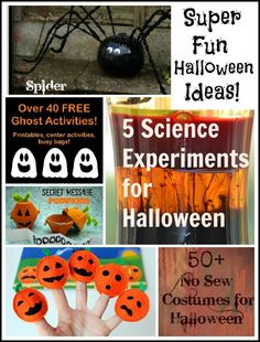 TONS of Fun Halloween activities!  I especially love the spooky Science experiments!