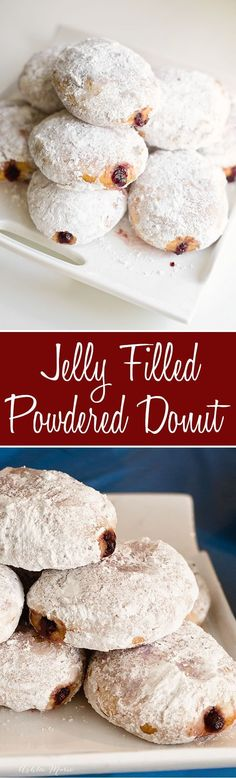 Easy to make and delicious, these homemade jelly filled powedered donuts are always a huge hit