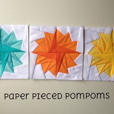 Paper pieced pompoms tutorial by SewBlossomHeart, via Flickr