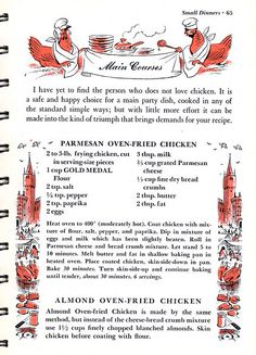 vintage_recipes | Betty Crocker's Guide to Easy Entertaining, 1959