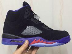 e926f5377b82a9 Nike Air Jordan 5 V Black Purple Red Womens Basketball Shoes AAA Jordan V