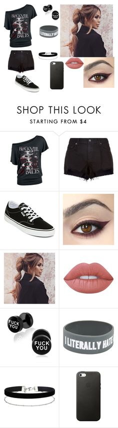 """""""Untitled #350"""" by galaxyoflions ❤ liked on Polyvore featuring rag & bone, Vans, Lime Crime and Miss Selfridge"""
