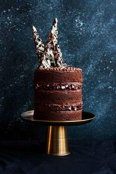 Chocolate Toffee Crunch Cake – fudgy chocolate cake lightly spiced with cinnamon paired with crunchy toffee bits and silky smooth chocolate buttercream frosting. A new layer cake recipe by our contributor, Tessa…View Post Chocolate Toffee, Chocolate Sponge, Rocky Road Cake, Crunch Cake, Big Cakes, Almond Cakes, Love Eat, Let Them Eat Cake, Yummy Cakes
