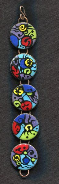Enameled Bracelet #2, Keith Droste