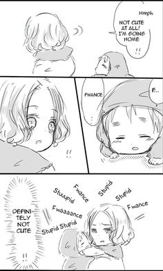 """Page 2 of 2 in a short doujinshi """"Little Dover"""" featuring young Francis and Arthur. Original Japanese by りお on Pixiv (http://www.pixiv.net/member_illust.php?mode=medium&illust_id=24175681), translated into English by Hitsu."""