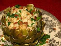 Stuffed artichoke appetizer #recipe #food