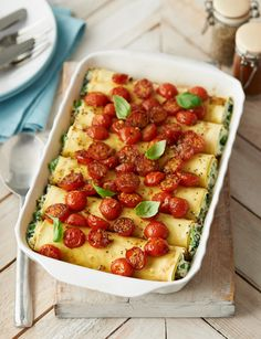 Cannelloni with balsamic glazed tomatoes http://www.sainsburysmagazine.co.uk/recipes/mains/veggie-2/item/cannelloni-with-balsamic-glazed-tomatoes