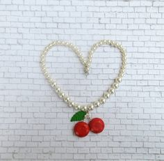 Hey, I found this really awesome Etsy listing at https://www.etsy.com/ca/listing/249143090/pearl-necklace-with-cherries-pearl