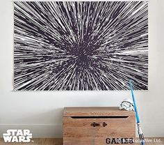 Star Wars Hyperdrive Mural ~ Geeky Home Decor! http://amzn.to/2gj6qIB