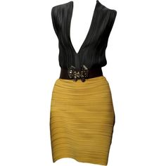 Lanvin S/S 2011 Dress - Edited by Monsieur.J ❤ liked on Polyvore featuring dresses, vestidos, vestiti, yellow, short dresses, yellow cocktail dress, lanvin, short yellow cocktail dress and yellow dress