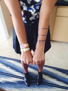 Chanel tattoo (more on temporary tattoos -- today on chicityfashion.com)