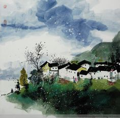 2015年11月05日 Chinese Brush, Chinese Art, Watercolour, Watercolor Paintings, Chinese Landscape, Urban Sketching, Chinese Painting, Ink Painting, Asian Art