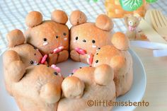 Cocoa Teddy Bear Bread Recipe ココアくまパンのレシピ - Little Miss Bento, can use any sort of yeast bread