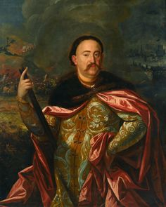 Portrait of John III Sobieski in Polish costume with the battle in the background by Anonymous Painter, (PD-art/old), Muzeum Pałacu Króla Jana III w Wilanowie ⍓ Monuments, Battle Of Vienna, Poland History, Google Art Project, Old Portraits, Classic Paintings, European History, Art Google, Les Oeuvres