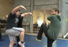 Stephen & Dean training for Karate Kid? At least Dean has a major head start with having a black belt by age 11.