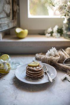 Vegan Sourdough Cinnamon Lemon Pancakes | Hortus Natural Cooking