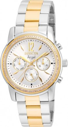 Invicta Women's Angel Steel Gold Band Silver Dial