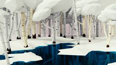 "madakikoeru: "" 3Dcember/Day 5/ Calm snowy birch tree forest "" LOOVVVVEEE ITTTT!!!!! I WANT TO GO THERE"