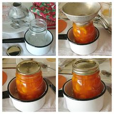The Country Farm Home: Making Amish Peach Jam and a very smart canning tip! Canning Tips, Canning Recipes, Mayonnaise, Sauces, Salsa, How To Peel Peaches, A Food, Food And Drink, Orange Jello