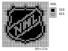 Crochet Fanatic: NHL Logos and Name Plates Perler Patterns, Loom Patterns, Beading Patterns, Cross Stitch Patterns, Pearler Beads, Fuse Beads, Plastic Canvas Crafts, Plastic Canvas Patterns, Cross Stitch Geometric