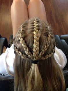 White girl corn rows