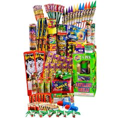 Phantom Fireworks® Uncle Sam Assortment: One of our favorite assortments includes many of our Phantom and Wolf Pack exclusive items. Contains 1,244 pieces for you to light!!