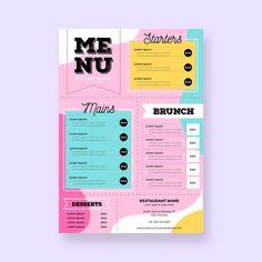 restaurant menu template Free V. Carta Restaurant, Restaurant Menu Template, Restaurant Names, Restaurant Menu Design, Cafe Menu Design, Menu Vintage, Vintage Logos, Retro Logos, Vintage Typography