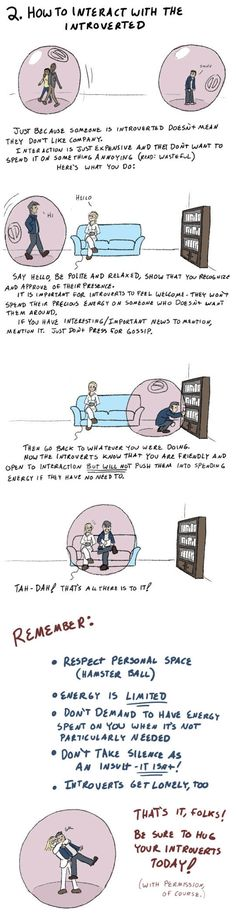 How to Interact with the Introverted.  Whoever created this deserves a medal. #introverts #introverted #personality